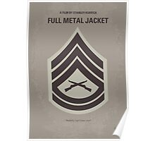 No030 My Full Metal Jacket minimal movie poster Poster