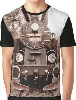 Antique locomotive sepia toned Graphic T-Shirt