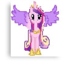 Princess Cadance Pixel My Little Pony Brony Pegasister Canvas Print