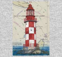 Cape North Race Lighthouse NS Canada Map Cathy Peek One Piece - Long Sleeve
