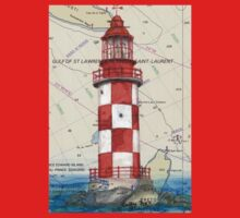 Cape North Race Lighthouse NS Canada Map Cathy Peek Baby Tee