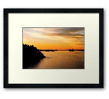 Voyage into Sunset Framed Print
