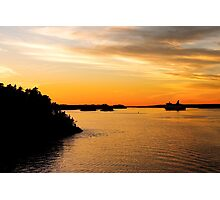 Voyage into Sunset Photographic Print