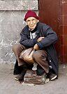 The Shoe Shine Man - Casablanca Morocco by Debbie Pinard