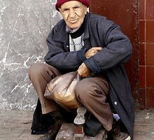 The Shoe Shine Man - Casablanca Morocco by Debbie Pinard