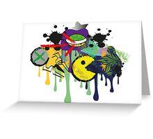 gaming graffiti Greeting Card