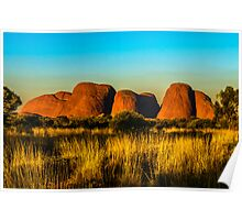 Sunset at The Olgas Poster