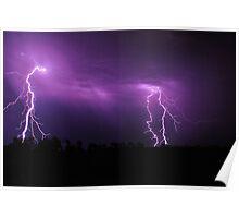Lightning Squared Poster
