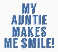 My Auntie Makes Me Smile One Piece - Short Sleeve