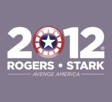 Vote Rogers & Stark 2012 (White Text) Kids Clothes