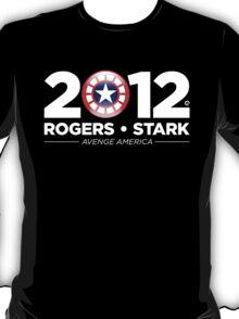 Vote Rogers & Stark 2012 (White Text) T-Shirt