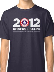 Vote Rogers & Stark 2012 (White Text) Classic T-Shirt