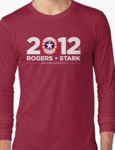 Vote Rogers & Stark 2012 (White Text) Long Sleeve T-Shirt
