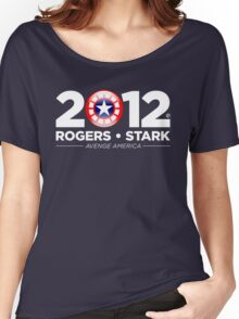 Vote Rogers & Stark 2012 (White Text) Women's Relaxed Fit T-Shirt