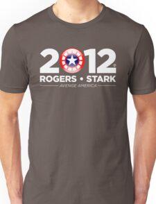 Vote Rogers & Stark 2012 (White Text) Unisex T-Shirt