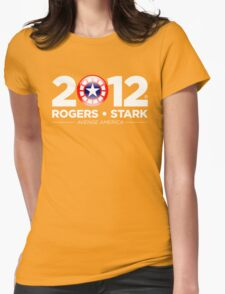 Vote Rogers & Stark 2012 (White Text) Womens Fitted T-Shirt