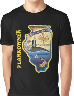SSN-786 USS Illinois Plank Owner Crest for Dark Colors Graphic T-Shirt