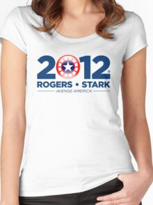 Vote Rogers & Stark 2012 (Blue Text) Women's Fitted Scoop T-Shirt