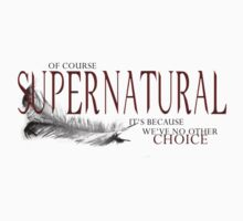 SPN TSHIRT - IT'S BECAUSE WE'VE NO OTHER COICE by RocksaltMerch