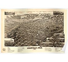 Panoramic Maps Bird's eye view of Leadville Colo 1882 Poster