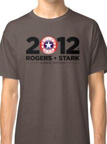 Vote Rogers & Stark 2012 (Black Text) Classic T-Shirt