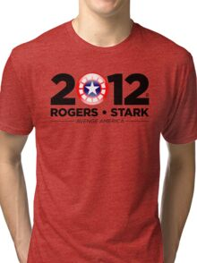 Vote Rogers & Stark 2012 (Black Text) Tri-blend T-Shirt