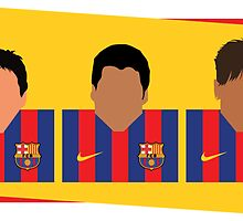 Messi, Suárez, Neymar - Barcelona by marbo92