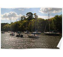 Yachts at Cramond Poster