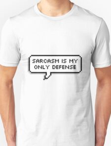 "Teen Wolf - "" Sarcasm is my only defense "" T-Shirt"