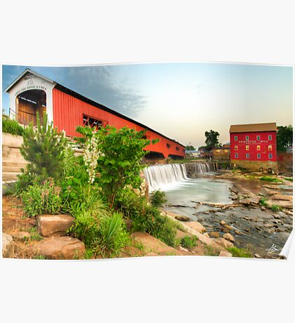 Bridgeton Mill and Covered Bridge Poster