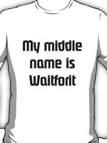 CallmeWaitforit(Black) T-Shirt