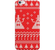 Bill Cipher Ugly Xmas Sweater--White iPhone Case/Skin