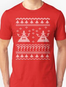 Bill Cipher Ugly Xmas Sweater--White Unisex T-Shirt