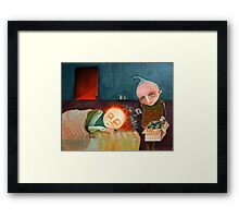 Bad Dreams Catcher Framed Print