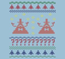 Bill Cipher Ugly Xmas Sweater--Color Kids Tee