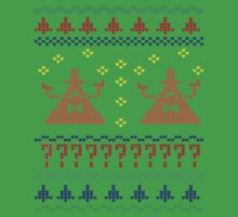 Bill Cipher Ugly Xmas Sweater--Color One Piece - Short Sleeve