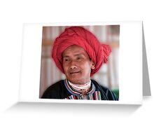 Padong Tribesman Greeting Card