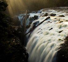 Englishman Falls Vancouver Island by Bob Christopher