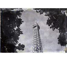 Eiffel Tower Wet Plate Photographic Print