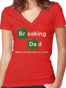 Breaking Dad Women's Fitted V-Neck T-Shirt