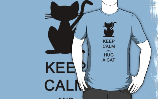 Keep calm and hug a cat (black) by Iceyuk