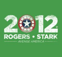 Vote Rogers & Stark 2012 (White Vintage) One Piece - Short Sleeve