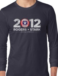 Vote Rogers & Stark 2012 (White Vintage) Long Sleeve T-Shirt