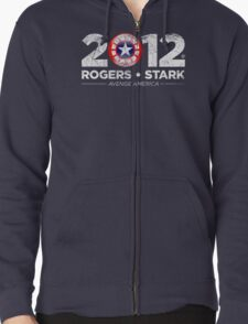 Vote Rogers & Stark 2012 (White Vintage) Zipped Hoodie