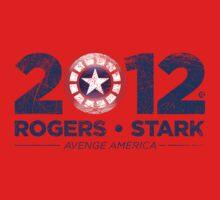Vote Rogers & Stark 2012 (Blue Vintage) One Piece - Short Sleeve
