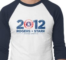 Vote Rogers & Stark 2012 (Blue Vintage) Men's Baseball ¾ T-Shirt