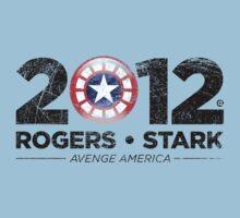 Vote Rogers & Stark 2012 (Black Vintage) Kids Clothes