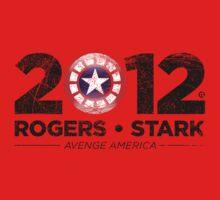 Vote Rogers & Stark 2012 (Black Vintage) Baby Tee