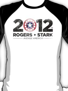 Vote Rogers & Stark 2012 (Black Vintage) T-Shirt