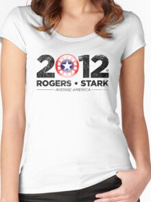 Vote Rogers & Stark 2012 (Black Vintage) Women's Fitted Scoop T-Shirt